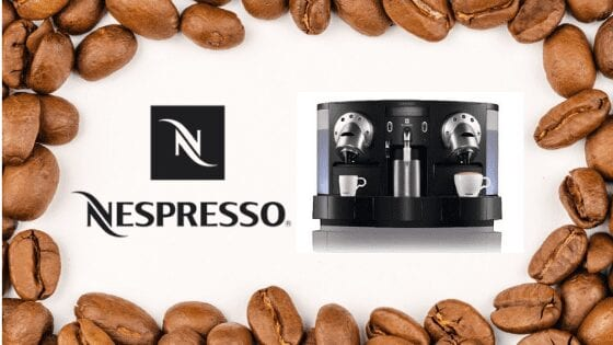 Nespresso Gemini machine that is dispensing two cups of coffee simultaneously